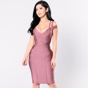Fashion Nova Lansa Bandage Dress